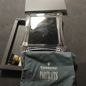 Waterford crystal 8x10 glass frame nwt